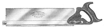 No. 14 Backsaw 1932 catalog Illustration