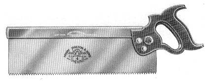 No. 4 Backsaw 1932 Catalog Illustration