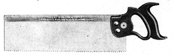 No. 4 Backsaw 1918 Catalog Illustration