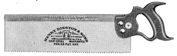 No. 4 Back Saw 1923 Catalog Illustration