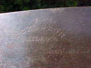 Cresson saw name stamp