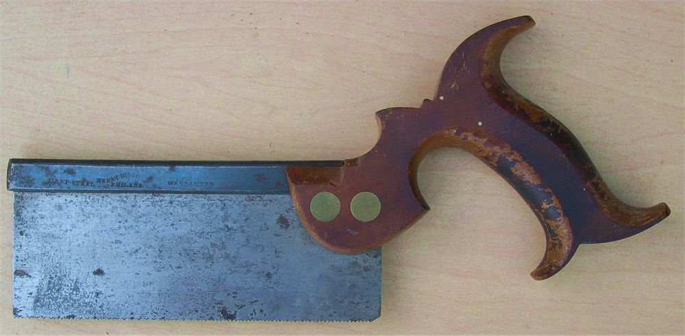 Disston Backsaw with an Open Handle
