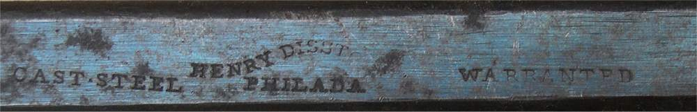 Disston One-Son Backsaw Stamp on the Spine