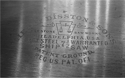 No. 7  1/2 Ship Saw Etch